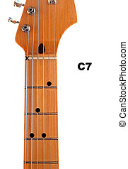 C7 Guitar Chord Diagram - Diagram of how to finger a C7...