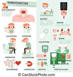 Thyrotoxicosis infographic healthcare and medical...
