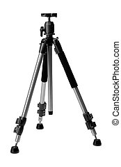 Aluminium tripod with ball head, isolate on white