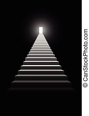 Stairway To Success - Illustration of a stairway to a bright...