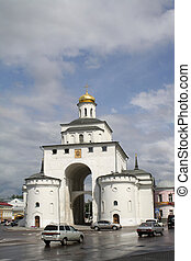 Golden Gate of Vladimir after the rain - Traveling along the...