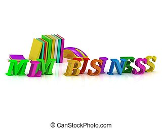 MLM BUSINESS - bright volume letter and textbooks and...