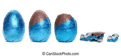 Easter Egg Lifecycle - The life cycle in stages of a Blue...