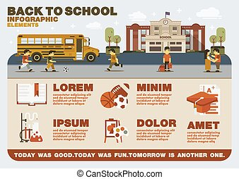 Back to school infographic elements