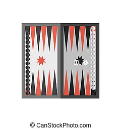 Sport illustration - Vector flat simple backgammon table...