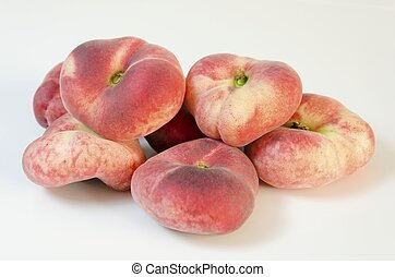 Saturn peaches - Six whole, medium-size, ripe, juicy saturn...