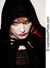 Witch - Closeup portrait of wicca or witch high priestess