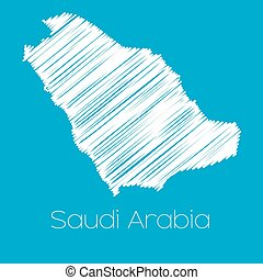 Map of the country of Saudi Arabia - A Map of the country of...