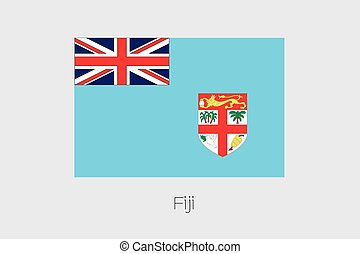 Illustration of the flag, with name, of the country of Fiji...