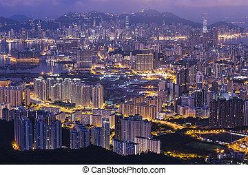 Fei ngo shan Kowloon Peak Hong Kong cityscape skyline