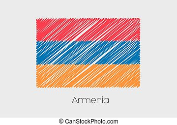 Scribbled Flag Illustration of the country of Armenia - A...