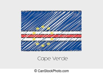 Scribbled Flag Illustration of the country of Cape Verde