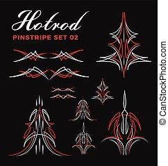vintage pin striping line art - Set of vintage pin striping...