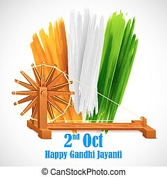 Spinning wheel for Gandhi Jayanti - Spinning wheel on India...
