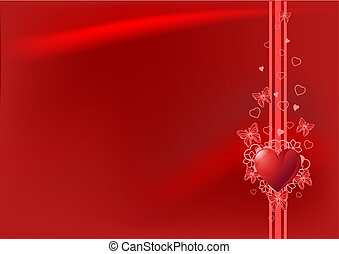 Red Valentines day background - Grange vector Valentine's...