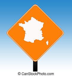 France road sign
