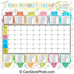 2015 calendar - Calendar and School timetable for students...