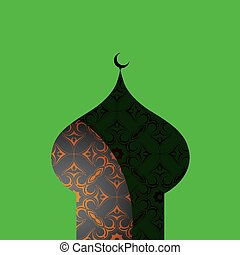 Oriental ornament shaped as mosque - Islamic mosque with...
