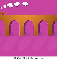 Stone bridge viaduct - Stone bridge as viaduct shape with...