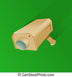 Security camera cartoon - Security camera simple in simple...