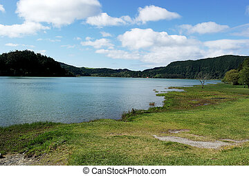 Furnas Lake, Sao Miguel island, Portugal