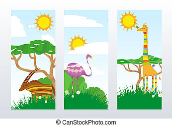 African Animals Banners