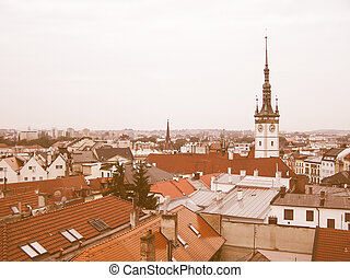 Retro looking Olomouc, Czech Republic - Vintage looking The...