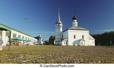 Tading area of the ancient city of Suzdal - Covered with...