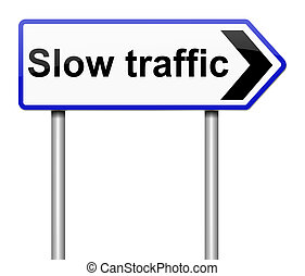 Traffic concept. - Illustration depicting a sign with a...