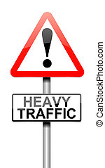 Traffic concept - Illustration depicting a sign with a...