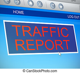 Traffic report concept - Illustration depicting a computer...