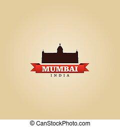 Mumbai India city symbol vector illustration