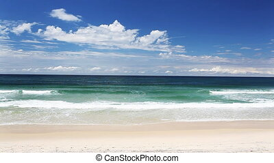 ocean with waves at the Gold Coast beach Australia