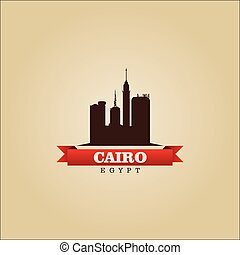 Cairo Egypt city symbol vector illustration