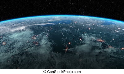 Satellite is Orbiting the Earth - Modern Satellite is...