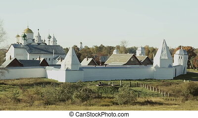 Suzdal panorama summer view. Panning