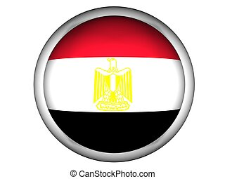 National Flag of Egypt, button style