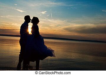 Beautiful wedding couple - Beautiful young wedding couple...