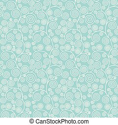 Seamless pattern with curvy spirals - Seamless pattern with...