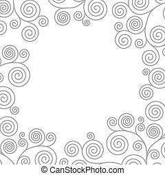 Frame with curvy spirals - Frame with curvy spiral...