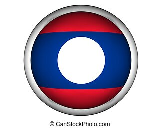 National Flag of Laos, button style