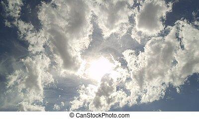 ciel bleu soleil nuage