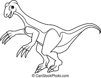 Coloring book: Therizinosaurus dinosaur