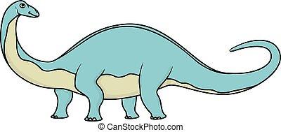 Cartoon brontosaurus isolated