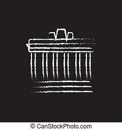 Acropolis of Athens icon drawn in chalk - Acropolis of...