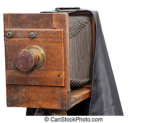 vintage camera used by photographers of the last century -...