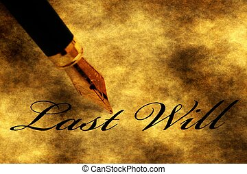 Pen on last will