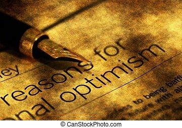 raisons, pour, optimisme,