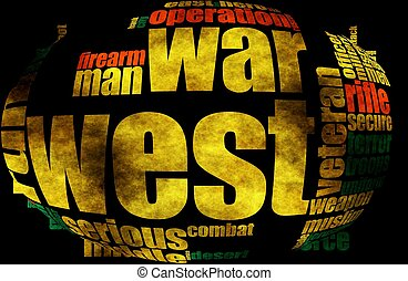 Military word cloud grunge concept