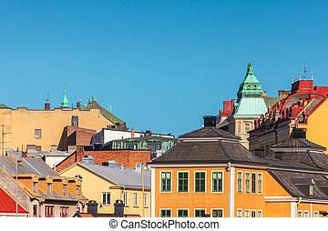 View at the city center of Karlskrona, Sweden - View at the...